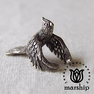 Marship 日本銀飾品牌 爪哇禾雀耳環 文鳥耳骨夾 925純銀 古董銀款