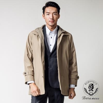 BARONECE 質男品味中長版風衣外套_卡其(360731-20)