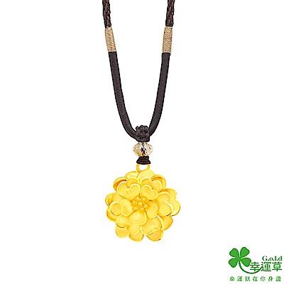 幸運草 幸福花境黃金/中國繩項鍊-大
