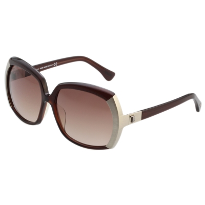 TOD'S 大方框 太陽眼鏡 (咖啡紅)TO9057