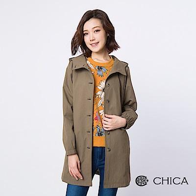 CHICA 原野漫步抽繩連帽風衣外套(3色)