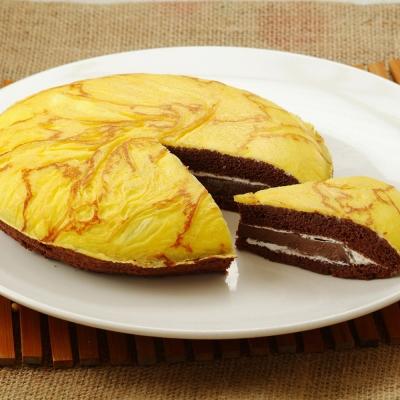 貝利比魔法烘焙-巧克力布蕾派-7吋-450g-盒