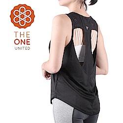 【The One】速乾排汗 美背鏤空透氣運動背心/罩衫(沉穩黑)