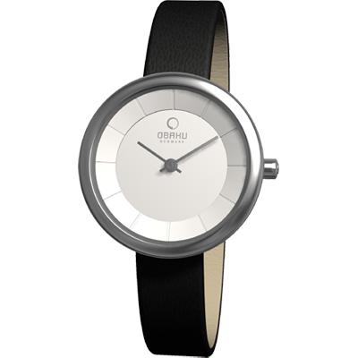 OBAKU 雅悅媛式時尚腕錶-白/27mm