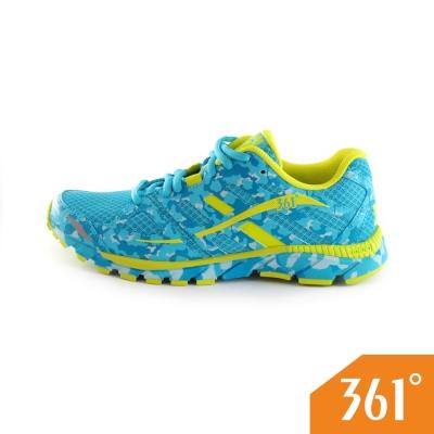 361女運動常規迷彩慢跑鞋-藍/黃