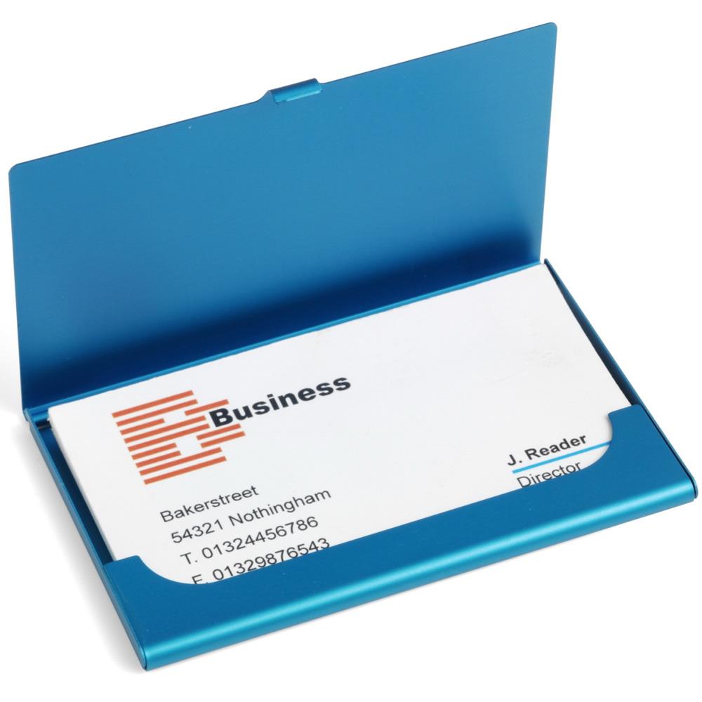 《VOYAGER》超輕薄名片盒(藍)