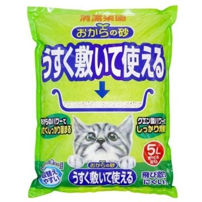 日本 貓砂樂園 環保無塵豆腐貓砂 5L