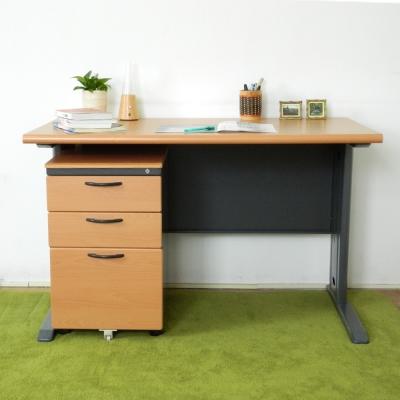 時尚屋 CD120木紋辦公桌櫃組 寬120cm-DIY