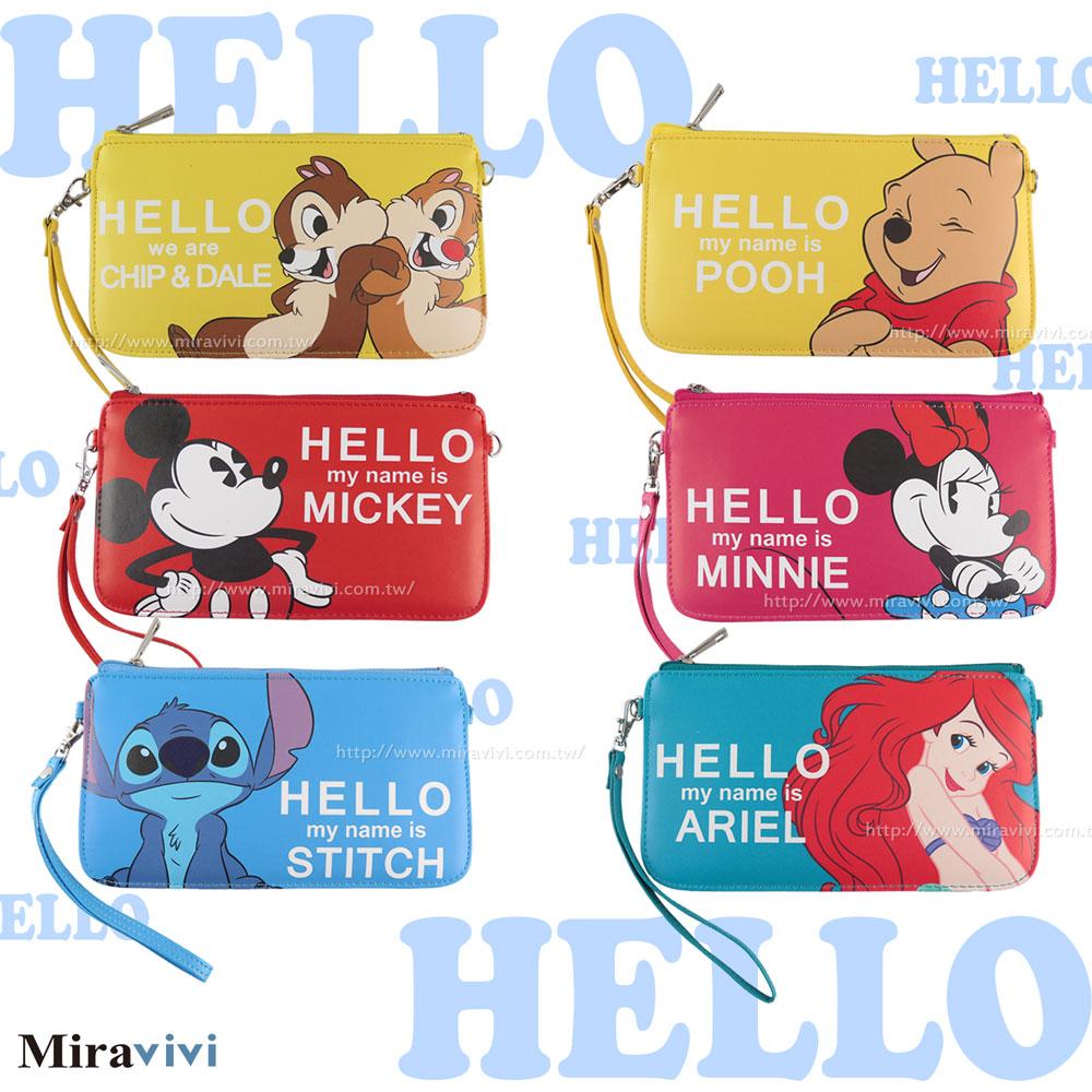Disney迪士尼皮質橫式手機袋/萬用包/手腕袋_哈囉系列