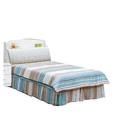 品家居  克萊拉3.5尺皮革單人床台組合(不含床墊)-106.5x223x101cm免組