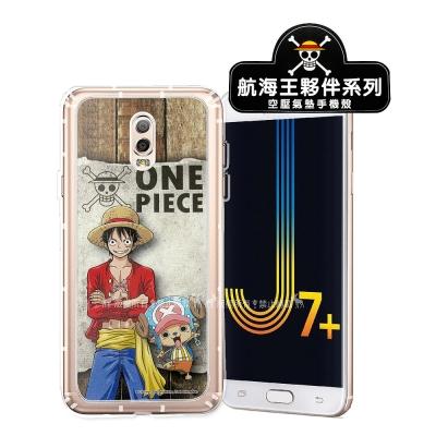 航海王夥伴系列 Samsung J7+/J7 Plus 空壓殼(喬巴&魯...