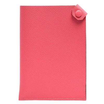 HERMES 經典Tarmac Epsom牛皮釦式護照夾(櫻花粉)