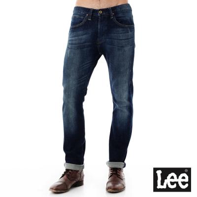 Lee 牛仔褲101+  707 中腰標準合身小直筒牛仔褲-男款-中深藍