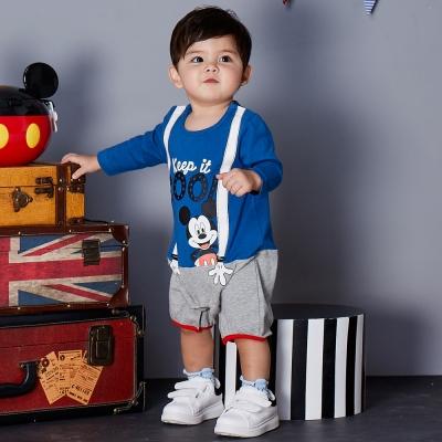 Disney baby 米奇系列酷樂連身裝 皇家藍