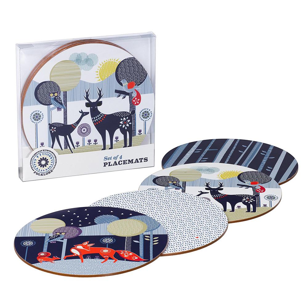 英國Wild&Wolf 森林動物系列 桌墊組四入組