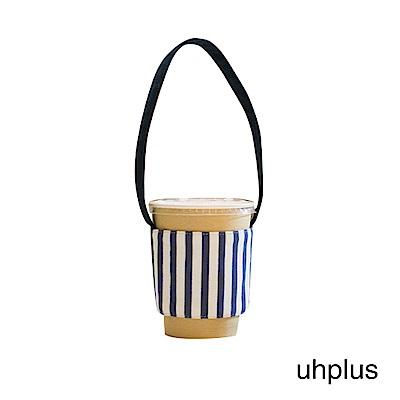 uhplus Love Life?隨行環保飲料袋-藍白條紋