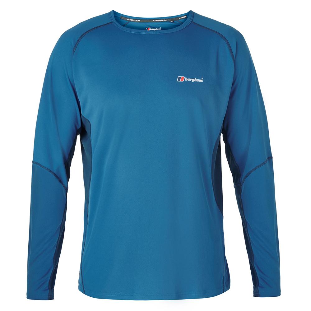 【Berghaus 貝豪斯】男款銀離子除臭抗菌抗UV長袖上衣S15M04藍/藍