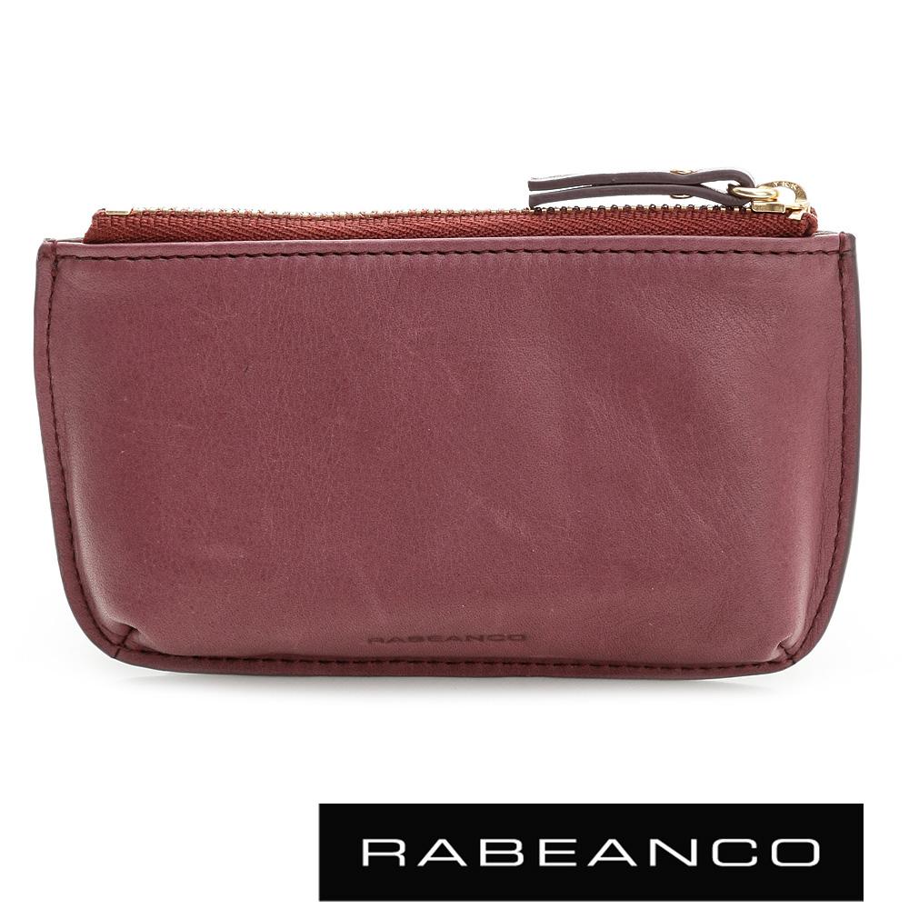 RABEANCO 迷時尚系列雙拉鍊零錢包(小) 紫紅