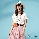 beartwo 時髦墨鏡少女印花圖案T恤(三色)