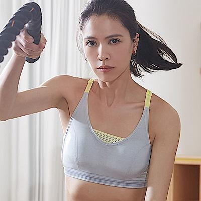 蕾黛絲-釋壓運動背心運動內衣 M-EEL(亮樂灰)