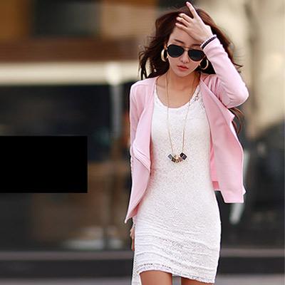 性感蕾絲透膚兩件式連身裙 (共二色)-N.C21
