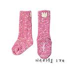 NAOMI ITO 皇冠音符小腿襪(粉紅)