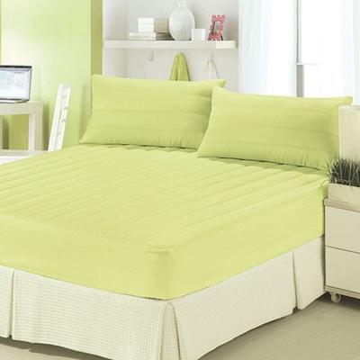 精靈工廠 吸濕排汗床包保潔墊加大三件套-果漾綠