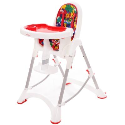 myheart 折疊式兒童安全餐椅 - 卡通紅