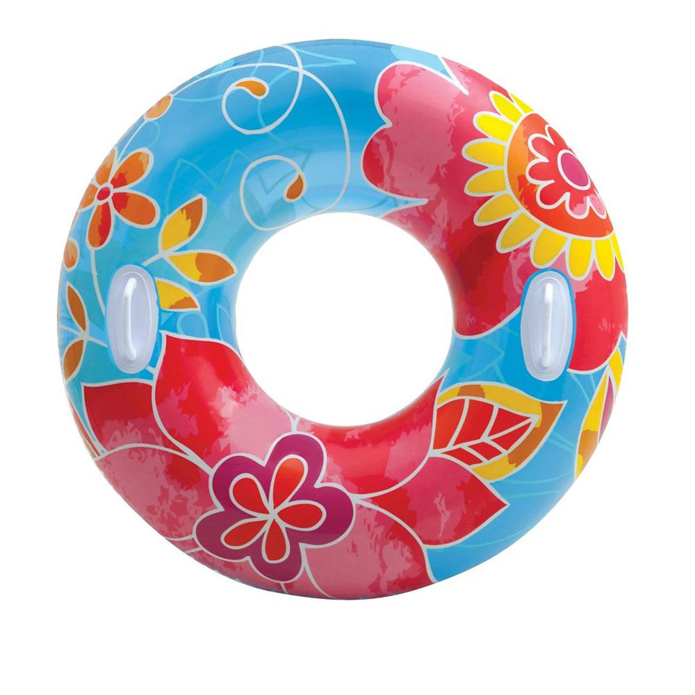 【INTEX】繽紛花色透明浮圈游泳圈