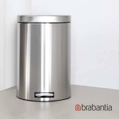 Brabantia 亮面腳踏式垃圾桶12L-靜音