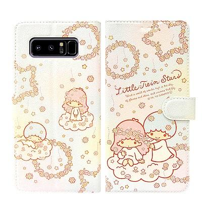 Kikilala 雙子星 Samsung Note 8 粉嫩系列彩繪磁力皮套(花...