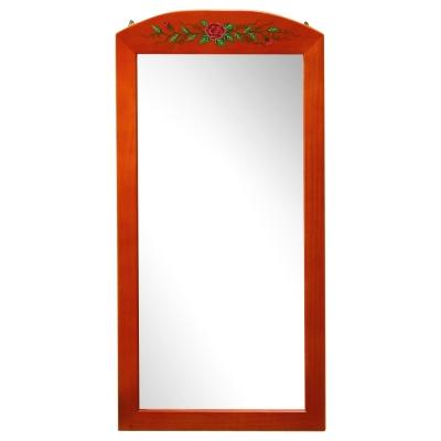 Homelike-彩繪松木壁鏡-71x35cm-蜜色