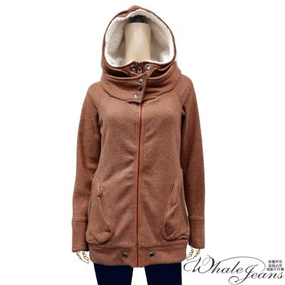 WHALE-JEANS-人氣熱銷寒冬必備精選鋪棉保暖連帽微長版外套