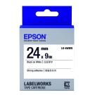 EPSON C53S656407 LK-6WBW高黏性白底黑字標籤帶(寬度24mm)