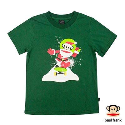 Paul Frank-聖誕老公公Julius印花短袖T恤-綠(童)