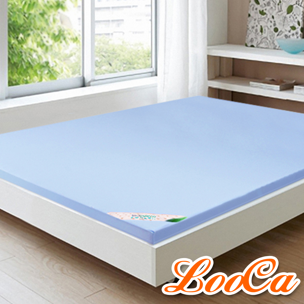 LooCa 美國抗菌2.5cm latexco乳膠床墊(單大3.5尺)