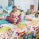 Fancy Belle X Malis 聖誕Wish 雙人四件式防蹣抗菌舖棉兩用被床包組