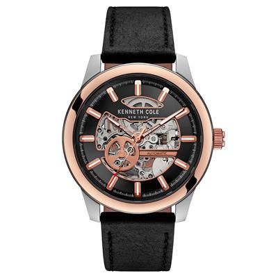 Kenneth Cole 尊榮品格雙面鏤空機械錶-KC10031275/43mm