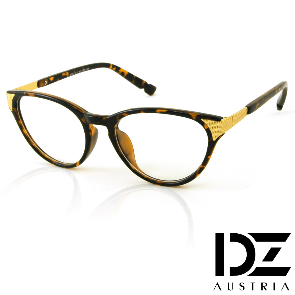 DZ 細格側飾 平光眼鏡(玳瑁)