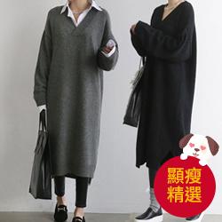 韓國針織連身裙