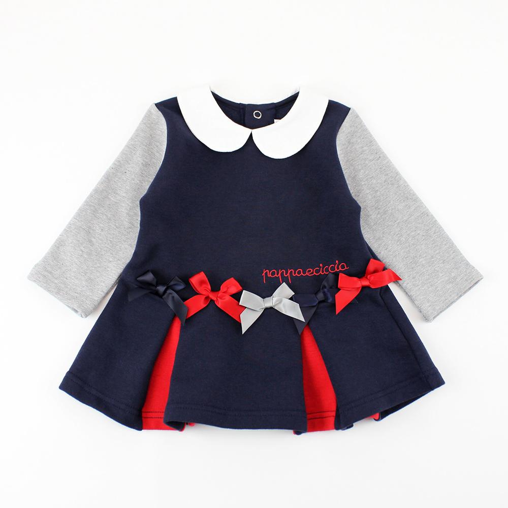 愛的世界 pappa&ciccia 保暖內刷毛長袖洋裝/4~8歲