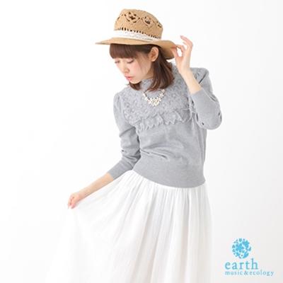 earth-music-ecology-蕾絲拼接衣