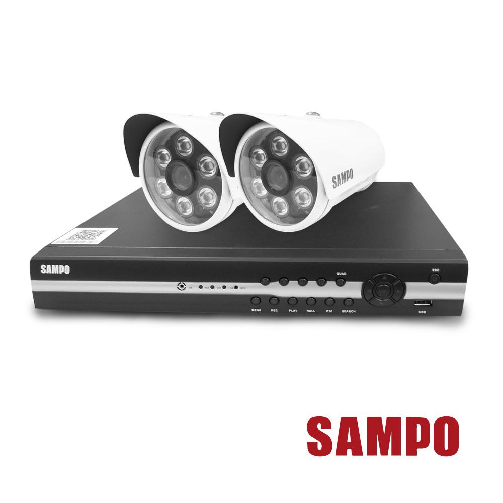 聲寶 4路主機(DR-XS0479HF)+2顆LED攝影機(VK-XC3528HS-B)