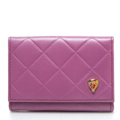 IFFI-菱格系列.牛皮名片夾-紫色