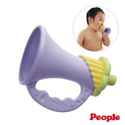 日本製People-新彩色米的喇叭咬舔玩具(米製品玩具系列)(0m+)(固齒器)