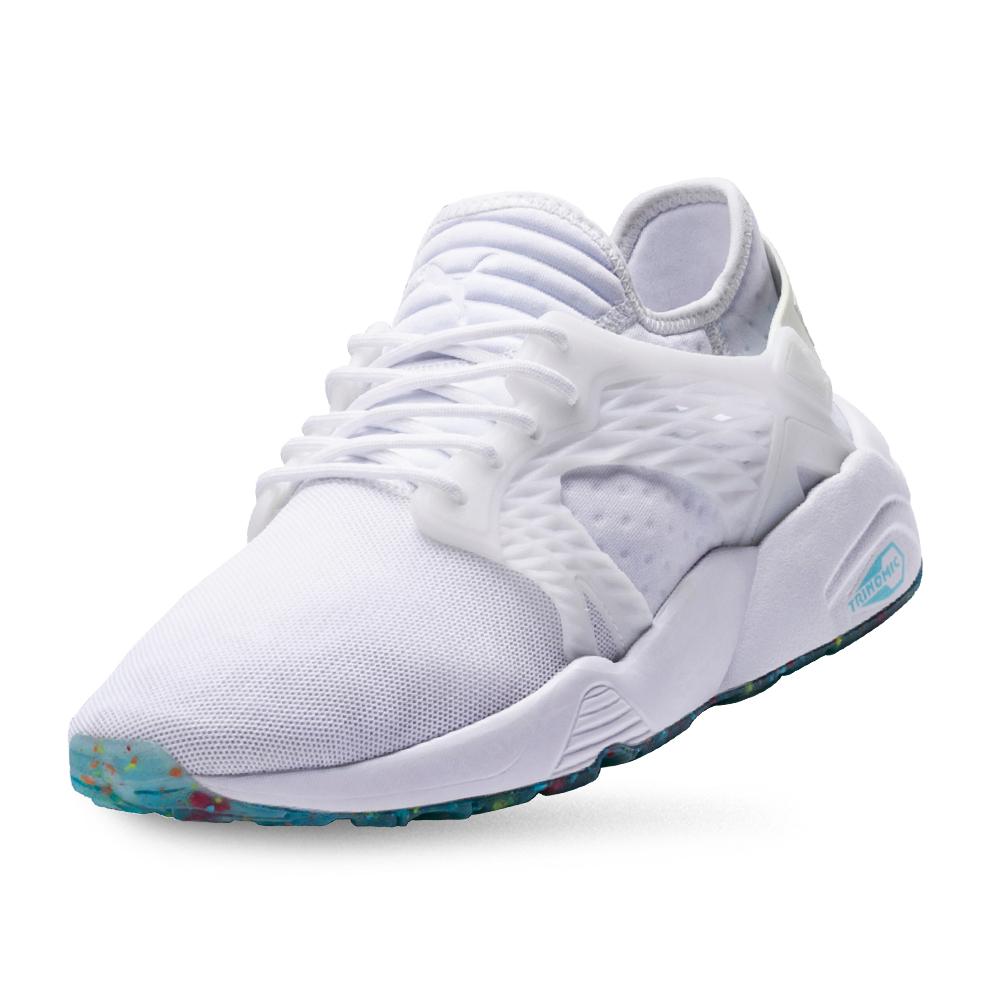 PUMA-Blaze Cage Kiku FM 女性復古慢跑運動鞋-白色