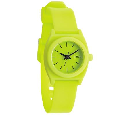 NIXON TIME TELLER P 躍動普普個性腕錶-檸檬黃/24mm