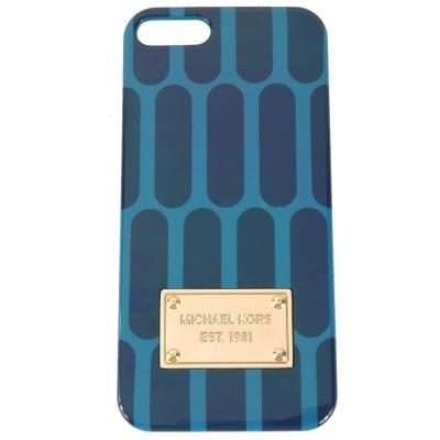 MICHAEL KORS 雙色普普風 iPhone5手機殼(藍x綠)