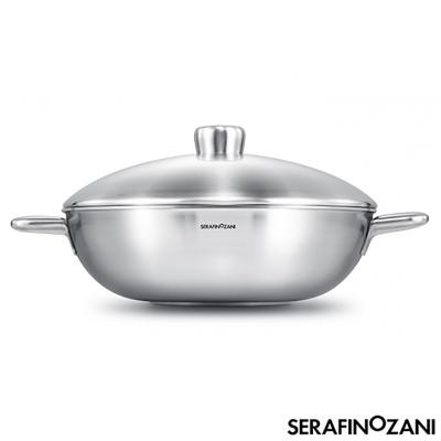 SERAFINO-ZANI-恆溫系列雙耳不鏽鋼炒鍋34cm