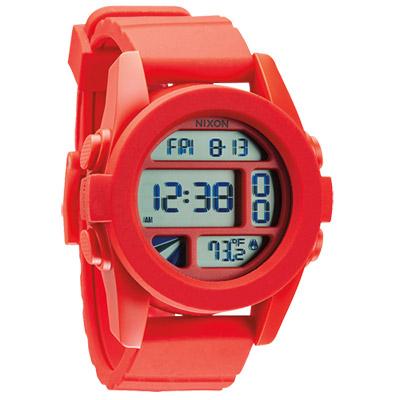NIXON The UNIT率性概念雙時區運動錶-紅/40mm